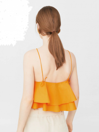 Jacquard Crop Top with Knot