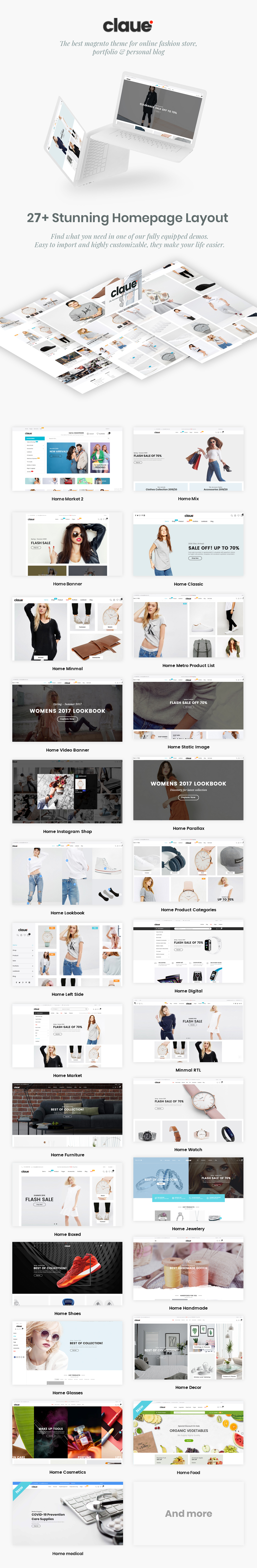 Claue - Clean, Minimal Magento 2 and 1 Theme - 7