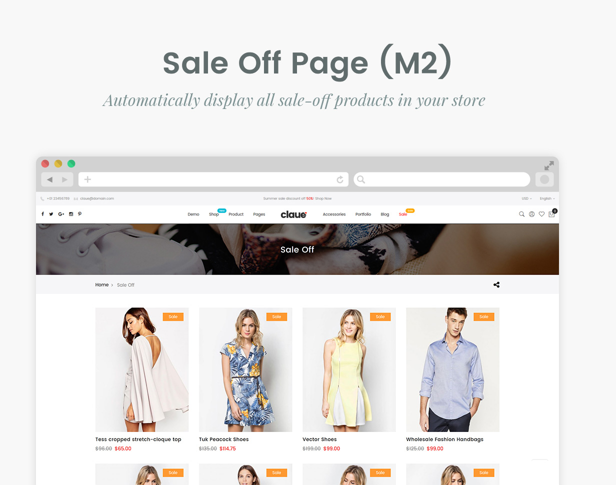 Claue - Clean, Minimal Magento 2 and 1 Theme - 20